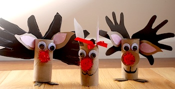 Alanna George tp roll reindeer craft