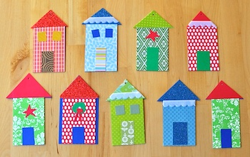 Quince And Quire paper house ornament tags