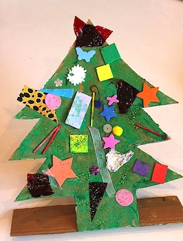 The Imagination Tree recycled materials christmas tree