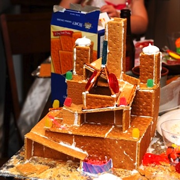 One Inch World gingerbread marble run