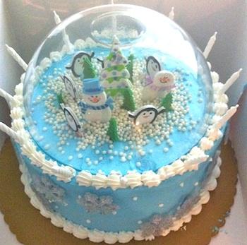 Todera snow globe cake