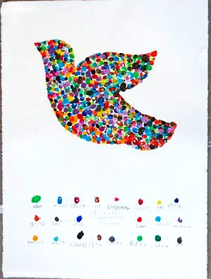 Martin Luther King, Jr. Day craft for kids fingerprint peace dove
