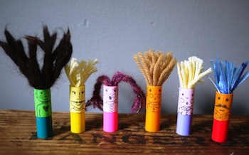 The Handmade Adventures Of Captain Crafty marker cap finger puppets