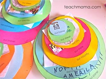 Teach Mama geography where you live craft