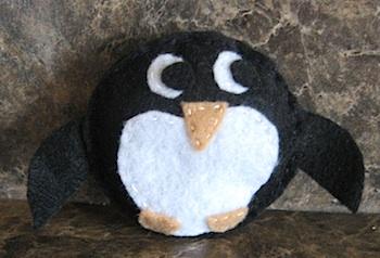 Almost Unschoolers penguin bean bags