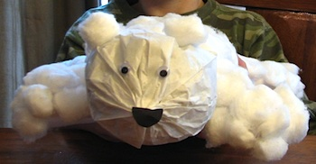 Ramblings Of A Crazy Woman paper bag polar bear