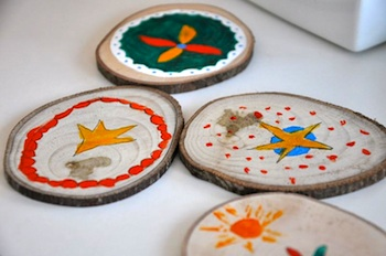 Bread And Buttons wood craft for kids coasters