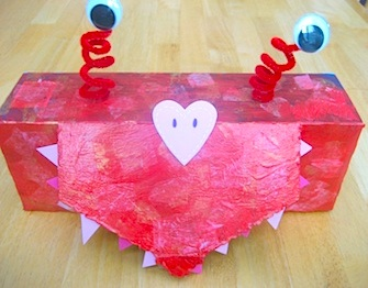 Toddler Approved valentine box monster Valentine box & Valentine Box Ideas - Things to Make and Do Crafts and Activities ... Aboutintivar.Com