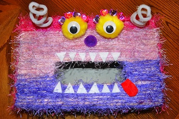 I Heart Crafty Things valentine box monster