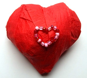 Celebrate The Big And Small valentine craft heart-shaped surprise ball