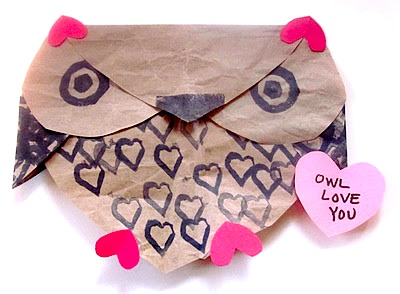 Mama's Little Muse valentine craft owl love you