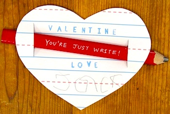 The Write Start pencil valentine