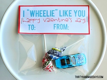 Thirty Handmade Days valentine card wheelie like you