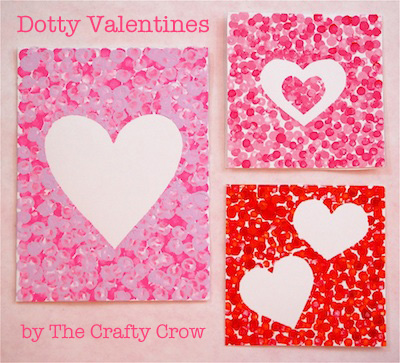 Make Dotty Valentines with Qtips Things to Make and Do Crafts – Valentine Cards for Kindergarten