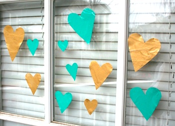 Mod Podge Rocks valentine crafts make your own window clings