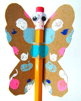 Aesthetic Outburst valentine craft butterfly pencil valentines