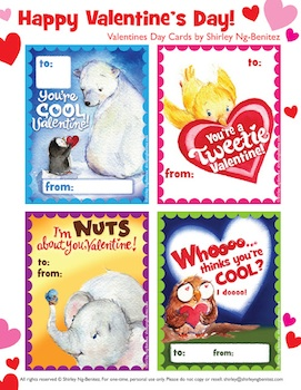 We Love To Ilustrate Free Printable Valentine Cards For Kids