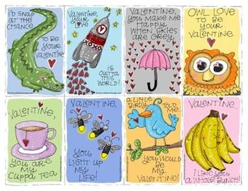 Freshly Picked Whimsy printable valentine cards