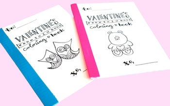 The Design Pocket valentine coloring book
