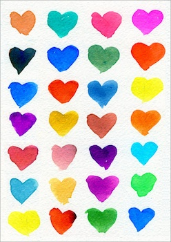 Art Projects For Kids hearts of many colors