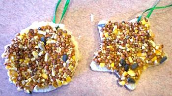 Preschool Playbook stale bread bird feeder
