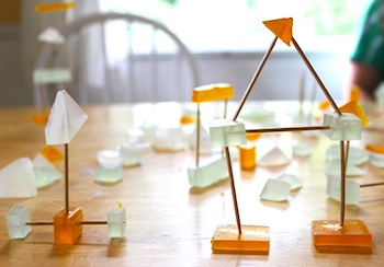 The Artful Parent soap and toothpick sculpture