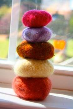 You Know How We're An Art Family felted rocks
