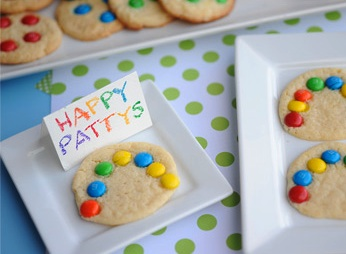 Katherine Marie st. patrick's day theme rainbow cookies