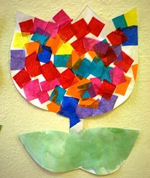 Preschool Playbook tulip collage