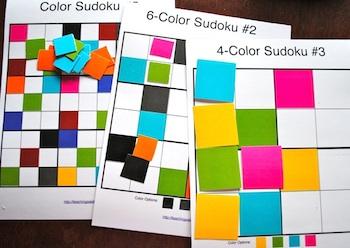 The Teaching Palette color sudoku