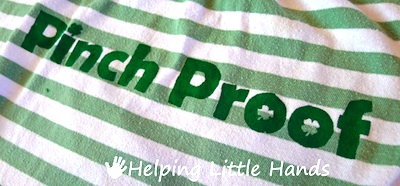 Helping Little Hands pinch proof shirt