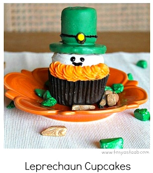 Create Celebrate Explore leprechaun cupcakes