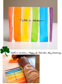 Willowday st. patrick's day rainbow card for kids to make