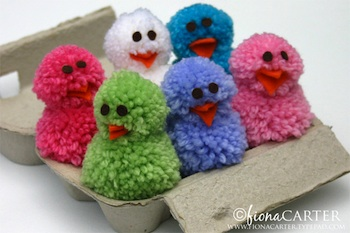 Living On The Crafty Side Of Life pompom chicks
