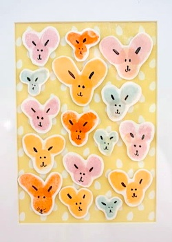 Lovely Living easter bunny fingerprint art
