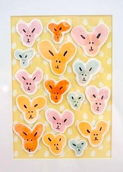 Lovely Living easter bunny fingerprint art