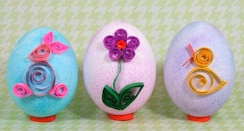 Chica And Jo quilled easter eggs