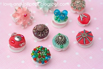 Love And Lollipops milk carton plastic lid rings with playdough