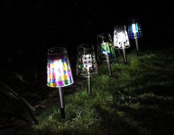Jellyfish Jelly mosaic solar lights from plastic cups