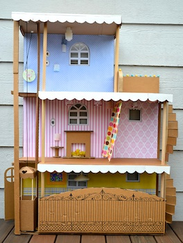 Ikat Bag cardboard doll house