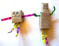 Mini robots from small boxes