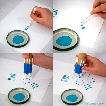 Crafty Crow q-tip paint techniques