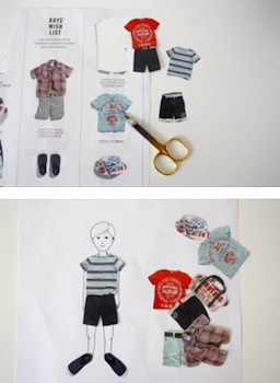 Little. Lovely. paper dress up from old catalog