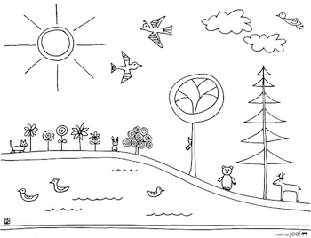 Made By Joel earth day coloring page