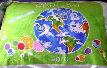 That Artist Woman earth day glue batik