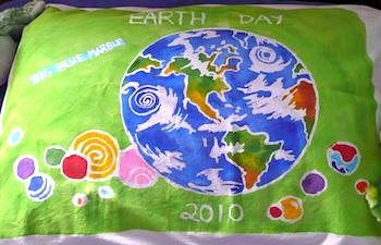 That Artist Woman earth day glue batik