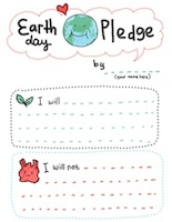 Earth day pledge printable
