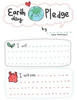 Earth day pledge printable