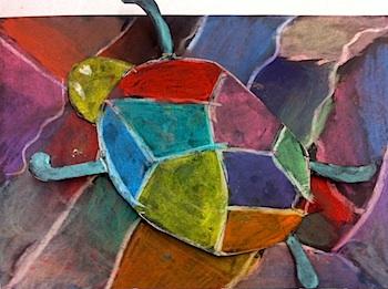 Artisan Des Arts turtle camoflage art lesson