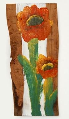 ALFK fingertip painting on wood 6